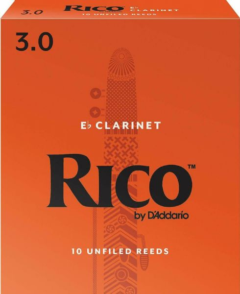 Rico 3.0 Strength Reeds for Eb Clarinet (Pack of 10) - RBA1030